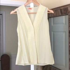 Pale yellow J. crew sleeveless top